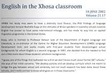 English in the Xhosa classroom flipbook
